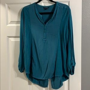 Blue long sleeve button up
